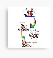 music dance hugs sleep calvin and hobbes Canvas Print