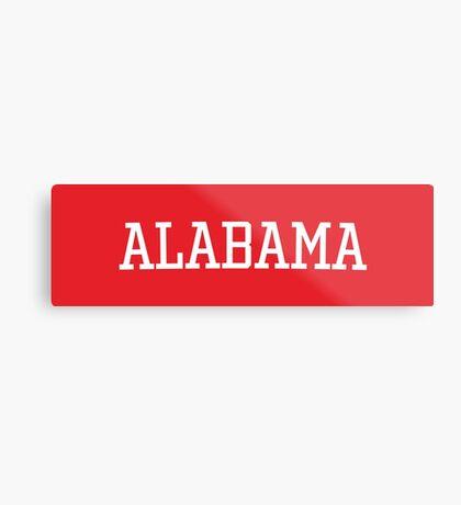 Alabama Athletic Style Metal Print