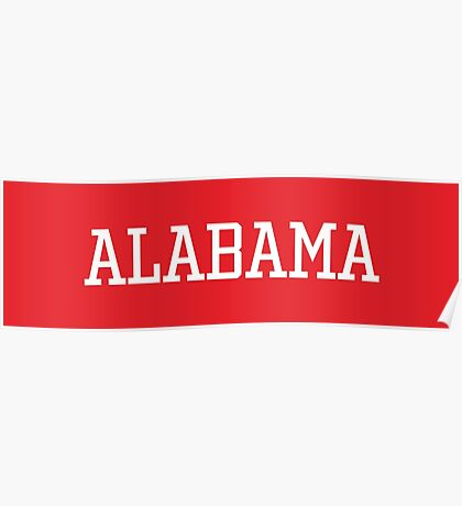 Alabama Athletic Style Poster