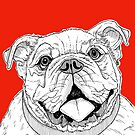 Bulldog Portrait by Adam Regester
