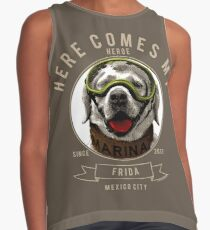 Frida the Mexican Rescue Dog Engraving Contrast Tank