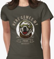 Frida the Mexican Rescue Dog Engraving T-Shirt