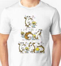 happy dancing calvin and hobbes happy ending T-Shirt