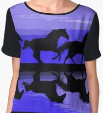 Running Horses Women's Chiffon Top