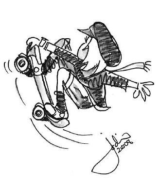 Skate Board Dude by Jodi Franzke
