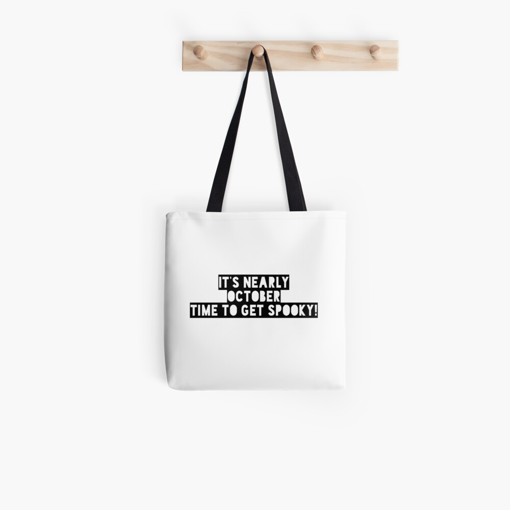 Water Based Inks If The Broom Fits Ride It Funny Halloween Tote Bag Carry All
