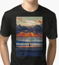 Staring at the Ocean Tri-blend T-Shirt