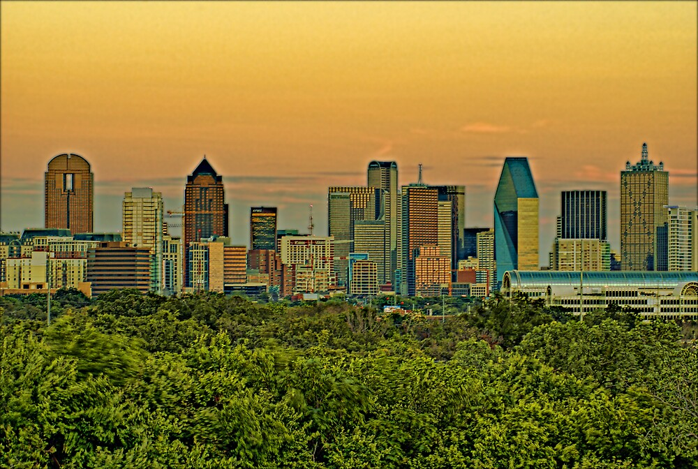 Dallas Sunset HDR & Topaz Filter by Marc Payne Photography