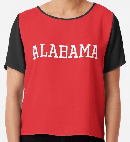 Alabama Athletic Style Chiffon Top