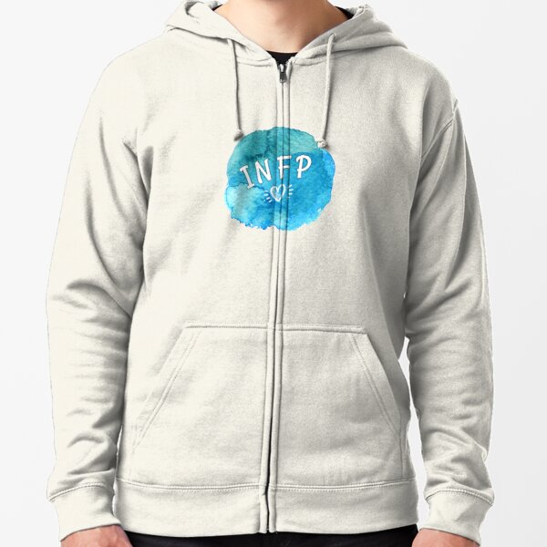 INFP the Introverted iNtuitive Feeling Perceiving Zipped Hoodie