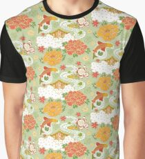 Japanese garden pattern Graphic T-Shirt