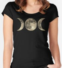 The triple moon Women's Fitted Scoop T-Shirt