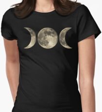 The triple moon Women's Fitted T-Shirt