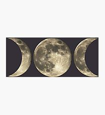 The triple moon Photographic Print