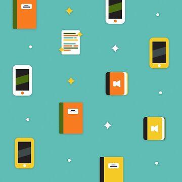 Book Blog Kindle Tablet pattern by mydesignontrack