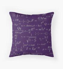Physics - purple Throw Pillow