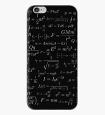 Physics - white on black iPhone Case