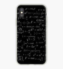 Physics - white on black iPhone Case
