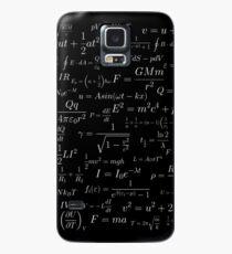 Physik - weiß auf schwarz Hülle & Klebefolie für Samsung Galaxy