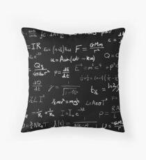 Physics - handwritten Throw Pillow