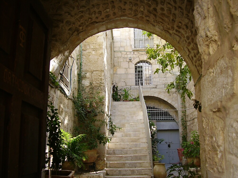 Entrance to Greek Quarters by Ann Palmieri