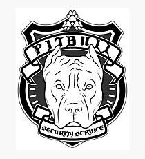 PITBULL Security Service - White Photographic Print