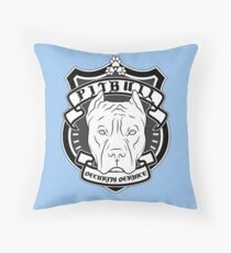 PITBULL Security Service - Blue Throw Pillow