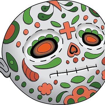 Emoji Neutral. Dia de Los Muertos. Day of The Dead by illumylov