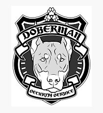 DOBERMAN Security Service - White Photographic Print