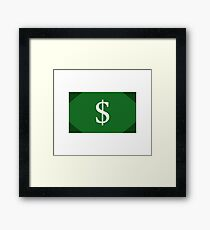 money Framed Print