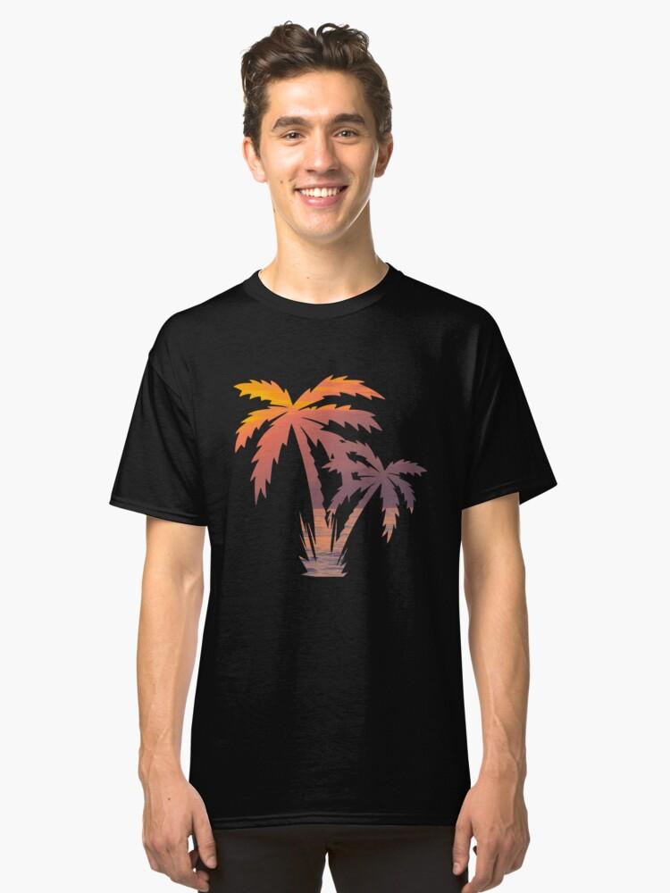 Palm Tree Shirt | Palm Tree T Shirt | Palm Tree Tee | Palm Tree Gifts | Sunset Shirt | Sunset Shirts | Sunset T Shirt | California Palm Tree Classic T-Shirt Front