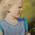 Girl with Daffodil by evequineart