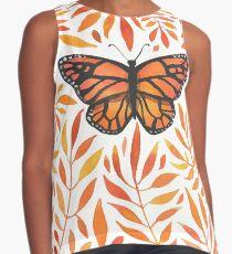Monarch in the Orange Leaves Contrast Tank