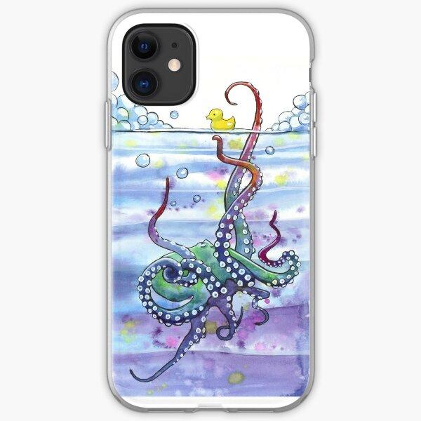 Bath Time Octopus iPhone Soft Case
