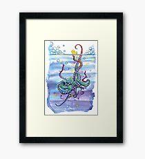Bath Time Octopus Framed Print