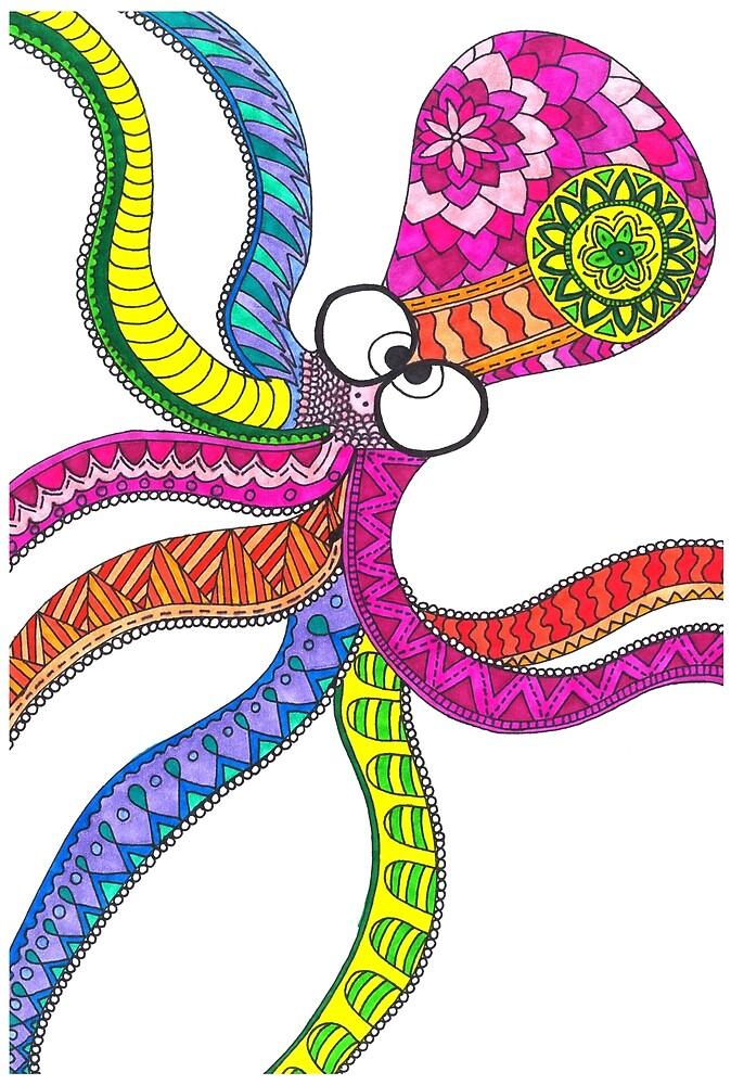Happy Octopus  by Steffspillsink