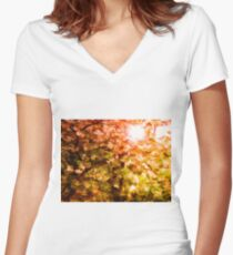 Light through the Trees Women's Fitted V-Neck T-Shirt