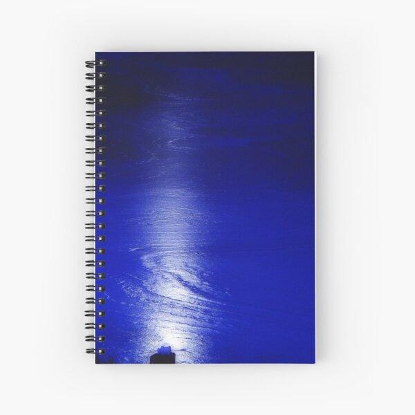 Moonlight on ice Spiral Notebook