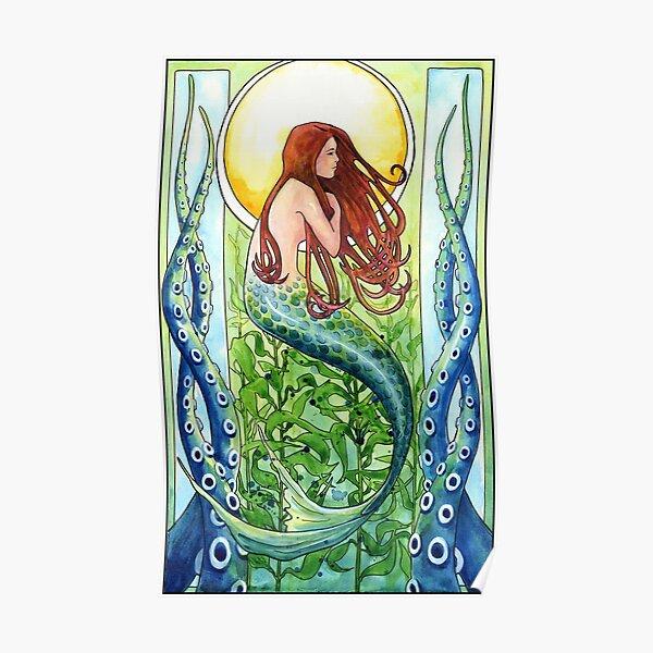 Kelp Forest Mermaid Poster