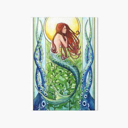 Kelp Forest Mermaid Art Board Print