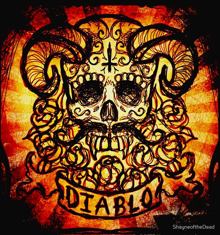 El Diablo Sugar Skull by ShayneoftheDead