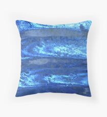 Waves of Crystal Blue Throw Pillow