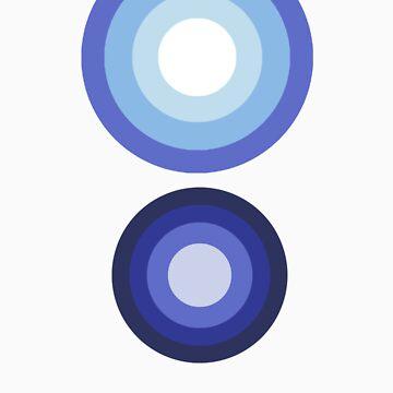Blue circles by DarkBeer
