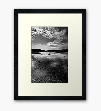 Greenham Common Missile Silos - Black and White Framed Print