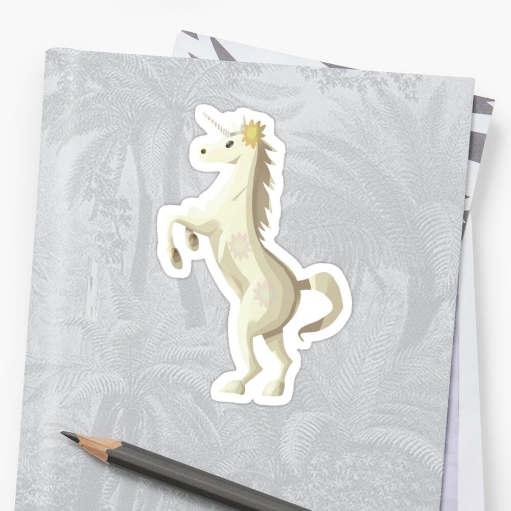 Cute Sunflower Unicorn Saturday Sticker by Odelyn66