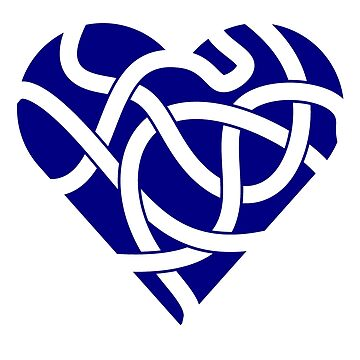 Celtic Knot Tangled Heart Navy by Thel0n
