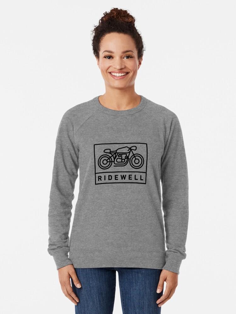 Alternate view of RIDEWELL Logo - Black Lightweight Sweatshirt