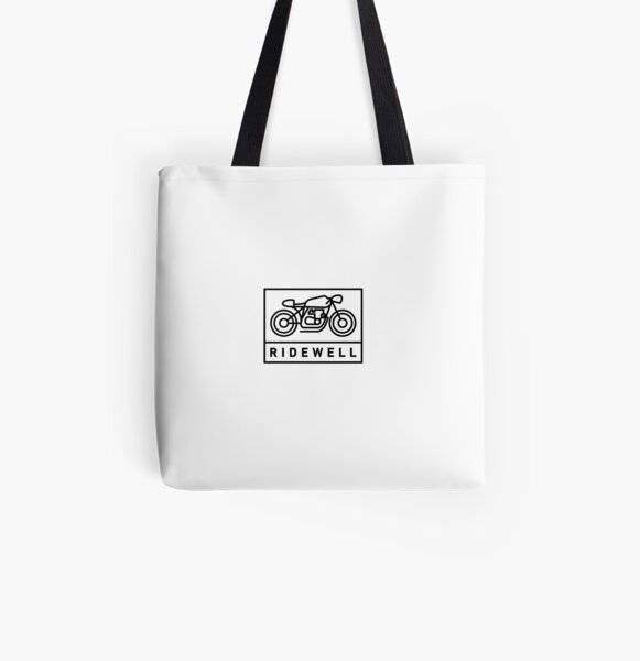 RIDEWELL Logo - Black All Over Print Tote Bag