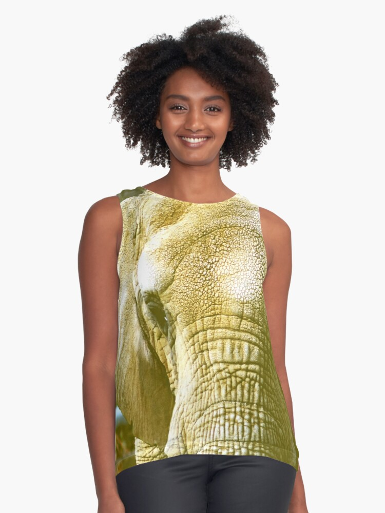 Can You Feel An Elephant? Contrast Tank Front