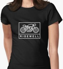 RIDEWELL Logo - White Women's Fitted T-Shirt